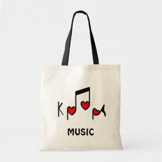 Musique pop de Coréen de coeur !  KPOP ! Sac En Toile Budget
