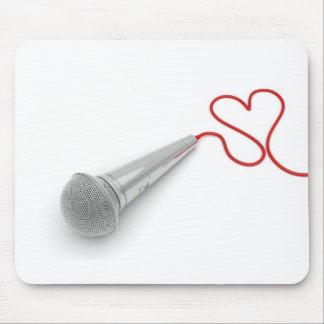 Musique pour l'amour tapis de souris