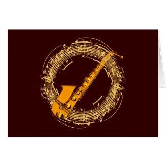 Musique saxophone music sax saxophone carte de vœux