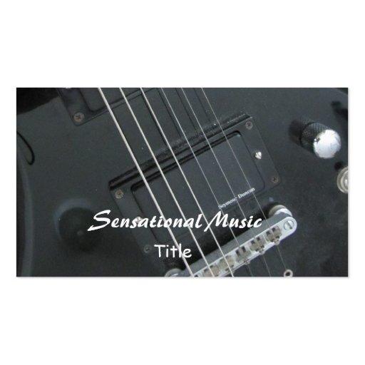 Musique sensationnelle de guitares modèle de carte de visite