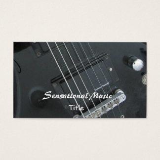 Musique sensationnelle de guitares cartes de visite