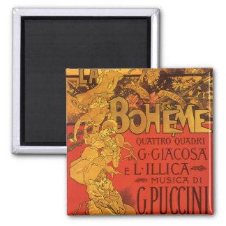 Musique vintage de Nouveau d'art, opéra de Boheme Magnet Carré