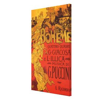 Musique vintage de Nouveau d'art, opéra de Boheme Toiles