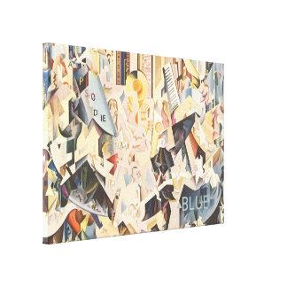 Musique vintage, jazz d'art déco, rhapsodie dans toiles
