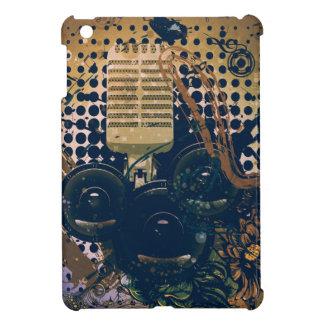 Musique vintage Microphone2 Coques Pour iPad Mini