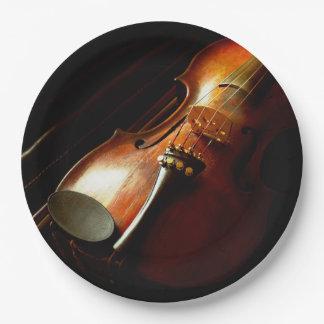 Musique - violon - les classiques assiettes en papier