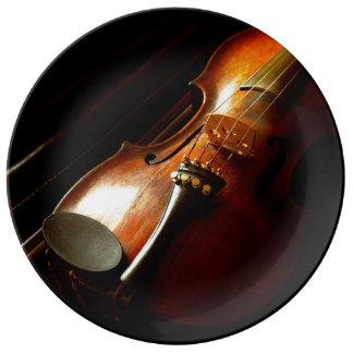 Musique - violon - les classiques assiettes en porcelaine