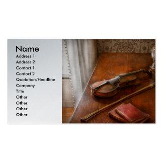 Musique - violon - un investissement sûr cartes de visite professionnelles
