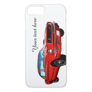 Mustang rouge personnalisé coque iPhone 7