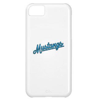 Mustangs dans cyan étui iPhone 5C