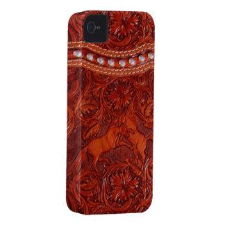 mustangs en cuir avec le coque iphone perlant arge coque iPhone 4 Case-Mate