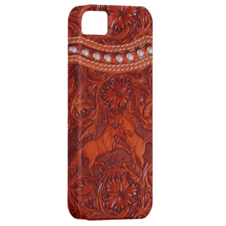 mustangs en cuir avec le coque iphone perlant arge coque iPhone 5 Case-Mate