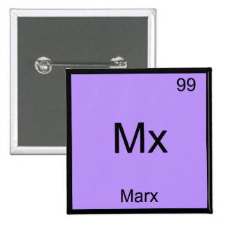 MX - T-shirt drôle de symbole de chimie d'élément Badges