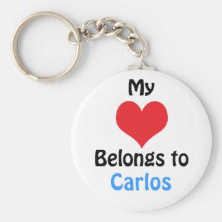 My heart Belongs to Carlos Porte-clé Rond