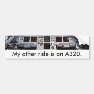 «My other ride is à A320.» Autocollant de