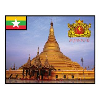 Myanmar - carte postale de la Birmanie