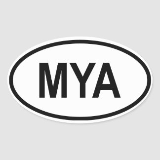 "Myanmar ""MYA "" Sticker Ovale"