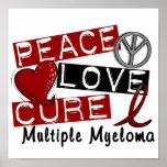 Myélome multiple de traitement d'amour de paix affiche