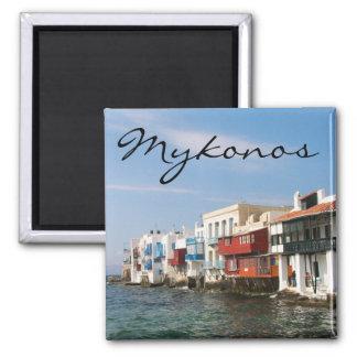Mykonos peu d'aimant de réfrigérateur de Venise Magnet Carré