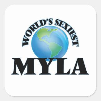 Myla le plus sexy du monde stickers carrés