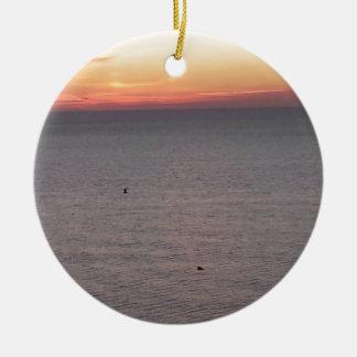 Myrtle Beach Ornement Rond En Céramique