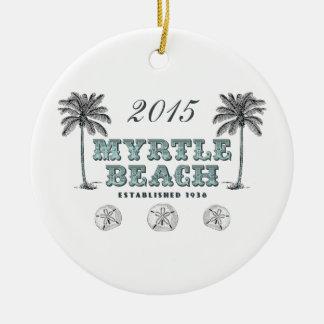 Myrtle Beach vintage personnalisé la Caroline du Ornement Rond En Céramique