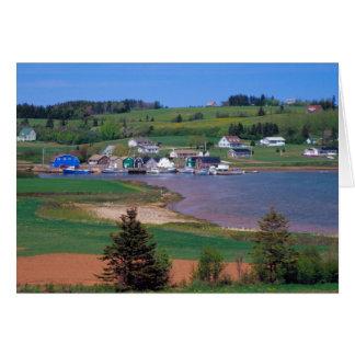 N.A. Le Canada, île Prince Edouard. Les bateaux Carte De Vœux