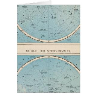 N, carte céleste d'atlas de S Sternhimmel