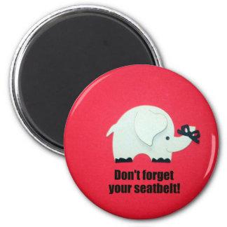N oubliez pas votre ceinture de sécurité aimants pour réfrigérateur