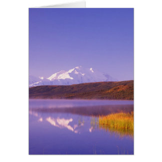 Na, Etats-Unis, Alaska, Denali NP, lac wonder, Mt. Carte De Vœux