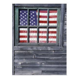 Na, Etats-Unis, Maine, île de Georgetown. Drapeau Carte Postale