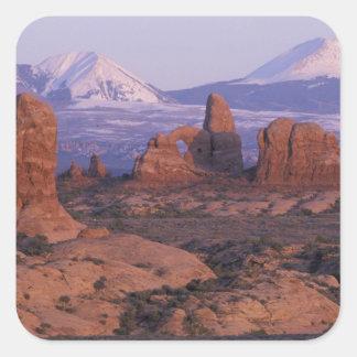 Na, Etats-Unis, Utah, arque le parc national. Sticker Carré