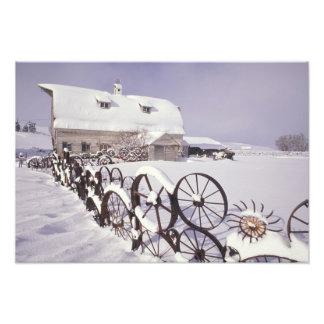 Na, Etats-Unis, Washington, Uniontown, grange blan Photographie D'art