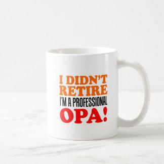 N'a pas retiré la tasse professionnelle d'Opa