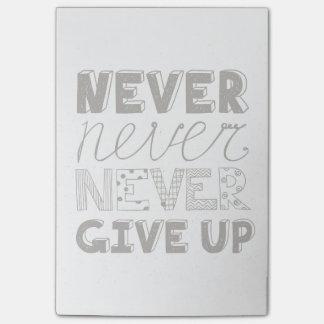 N'abandonnez jamais