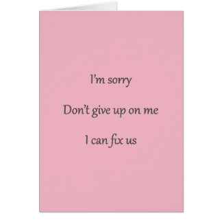N'abandonnez pas sur moi la carte rose