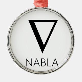 NABLA ORNEMENT ROND ARGENTÉ