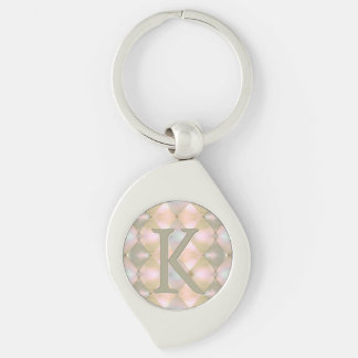 Nacre de harlequin (décorée d'un monogramme) porte-clés