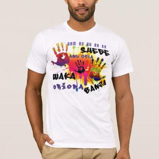 Naija jurent le T-shirt de mots