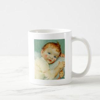 Naissance/anniversaire de bébé mug blanc