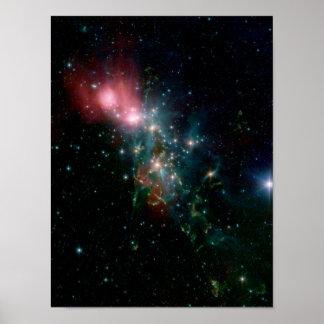 Naissance chaotique d'étoile de NASAs Posters