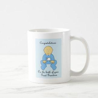 Naissance d'arrière-petit-fils, félicitations mug blanc