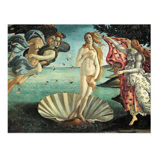 naissance de botticelli de venus carte postale