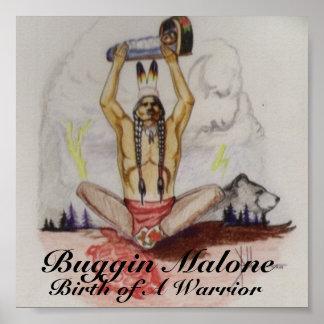 Naissance de Buggin d'une affiche de guerrier