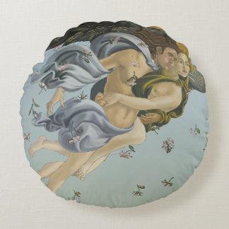 Naissance de coussin rond de coton de Vénus