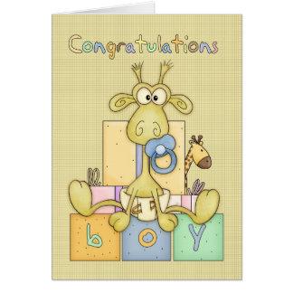 Naissance de félicitations de carte de bébé - bébé