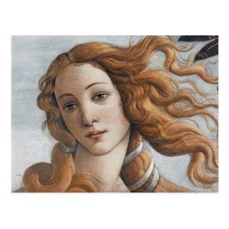 Naissance de fin de Vénus vers le haut de tête Cartes Postales