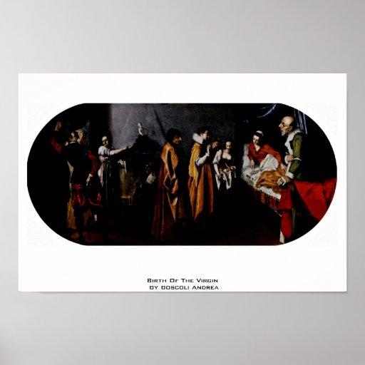 Naissance de la Vierge par Boscoli Andrea Affiches