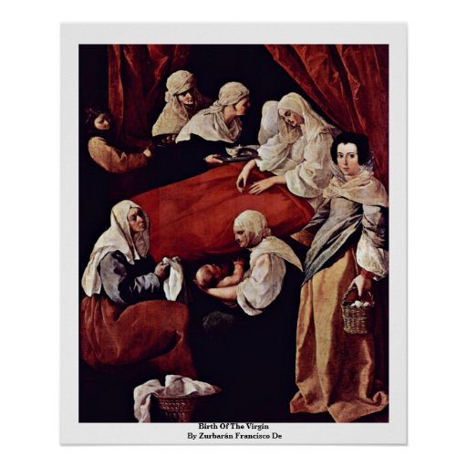 Naissance de la Vierge par Zurbarán Francisco De Posters
