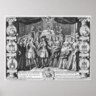 Naissance de Louis, dauphin de la France Poster